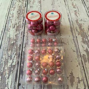 Bundle 71 pink Christmas glass ball ornaments